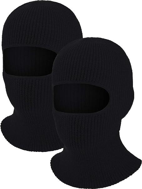 Amazon.com: Máscara de esquí de 1 hoyo de 2 piezas de punto ...