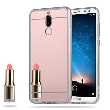 Funda Espejo Silicona Gel TPU para Huawei Mate 10 Lite Color Rosado