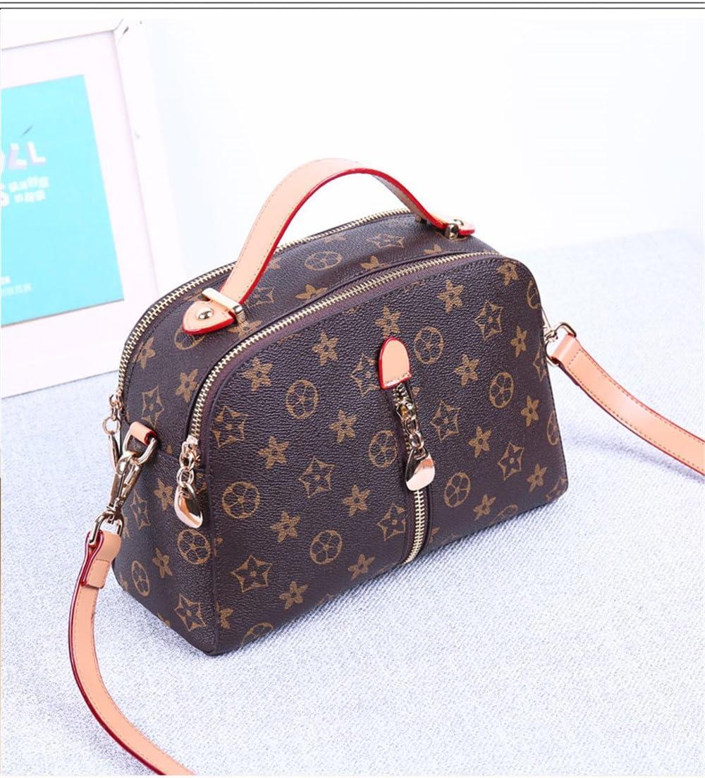 Slant Bag Printing Single Shoulder Fashion Handbag,Coffee,24X16X7Cm