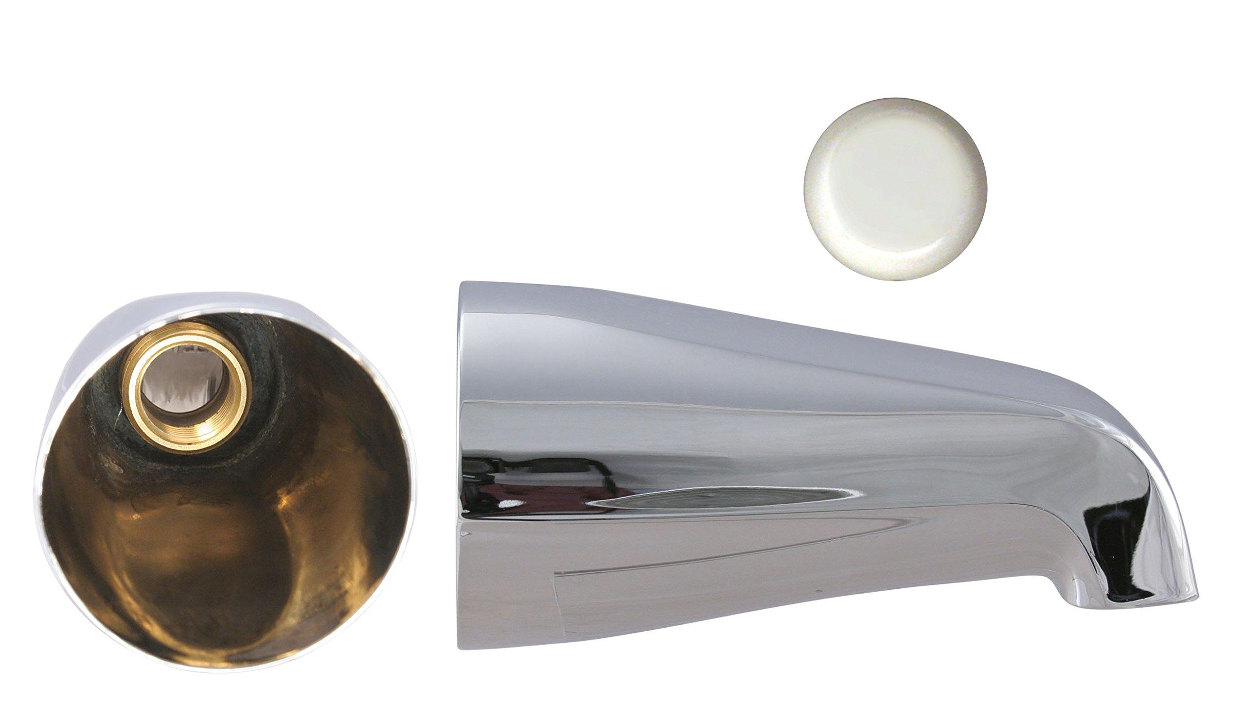 Westbrass E531-2F-WH Zinc Front Conn. Tub Spout 3/4'', White