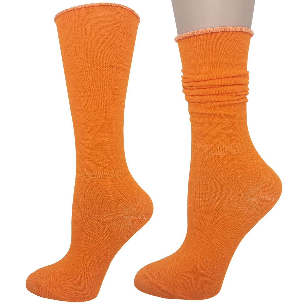 Cityelf Women's Classic Roll Top Cotton Compression Socks (6 pairs, mix) by Cityelf (Image #3)