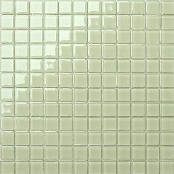 1qm Glas Mosaik Fliesen Matte In Hellem Grün Mt0021 M2 Amazonde
