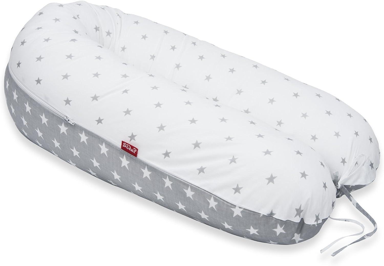 Scamp - Cojín universal para embarazo y lactancia, incluye funda en varios diseños gris ratón