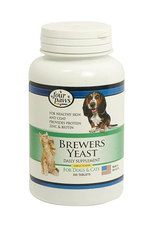 Four Paws Cuatro Patas Brewers Yeast ajo Sabor tabletas para Perros y Gatos