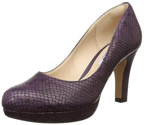 Tacón Violet Morado Con Clarkscrisp Zapatos Kendra Mujer YtnRwU