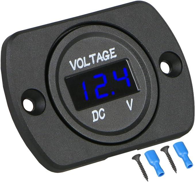 Car Motorcycle 12V Digital LED Display Voltmeter Voltage Meter Gauge Panel A2J9