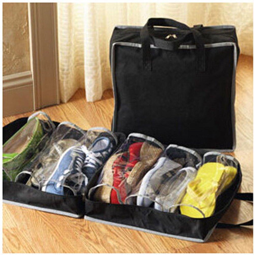 Gudelaa Bolsas de Zapatos Plegables no Tejidas de la Caja de Zapatos Portátil con la Cremallera para los Hombres y Las Mujeres Zapatos Bolsas de Almacenamiento Organizador Bolsas