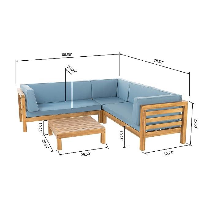 Amazon.com: Muebles Ravello para exteriores, 4 piezas ...