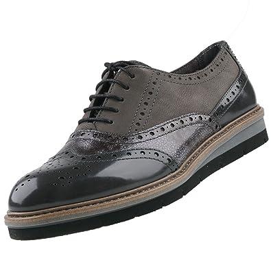 Tamaris Damen Schnürschuhe Grau, Schuhgröße:EUR 36: Amazon