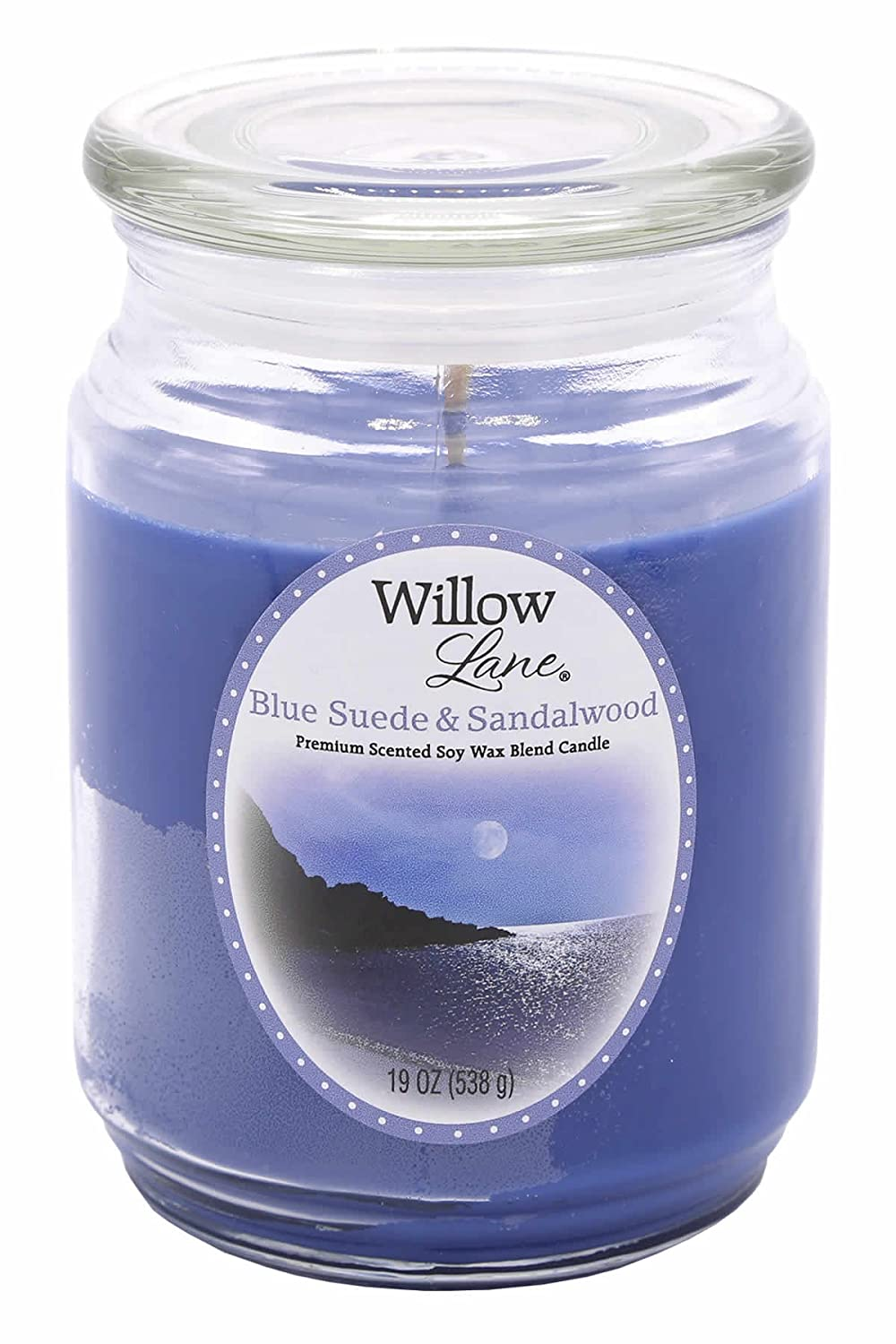 Candle Lite 1646033 Scented Candle、ブルースエード&サンダルウッド、19-oz。Jar 19 oz ブルー 1646033 B003RULYIM  1