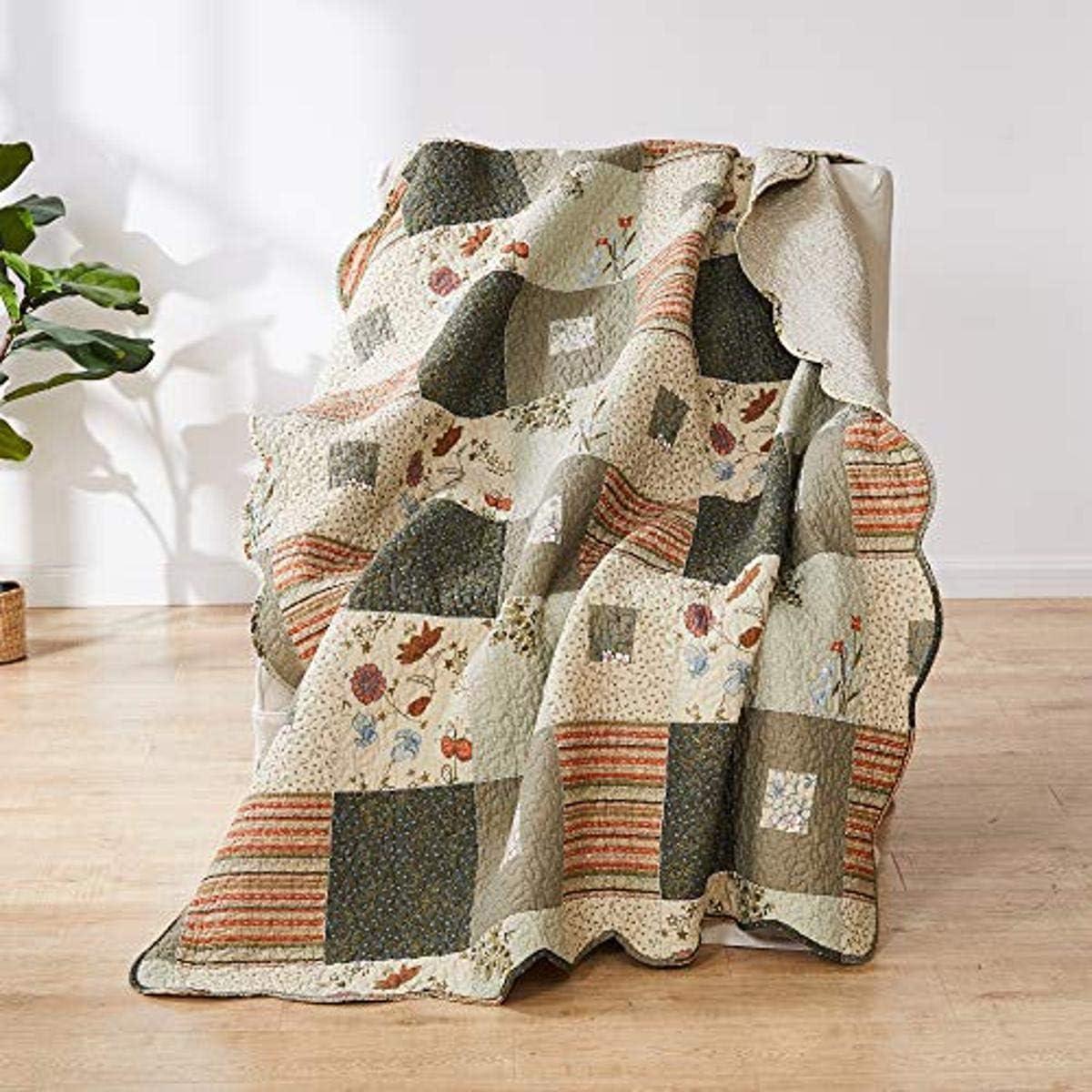 Greenland Home Sedona Throw Blanket, Taupe