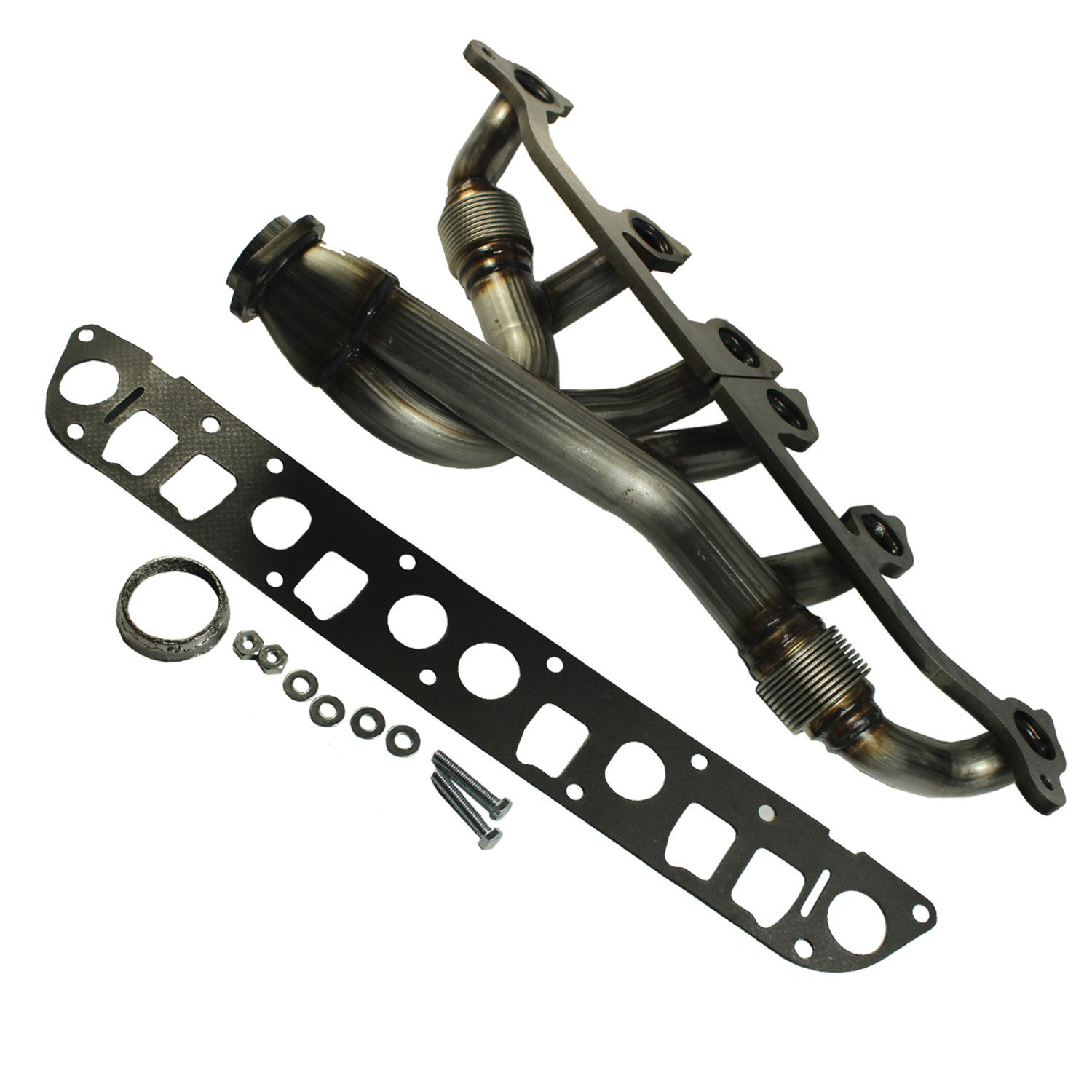 JDMSPEED New Stainless Steel Exhaust Manifold & Gasket Kit Replacement For Grand Cherokee Wrangler 4.0L Replacement For Jeeps Select 1991-1999 (4.0L Engine Only) Replaces 33007072, 4883385