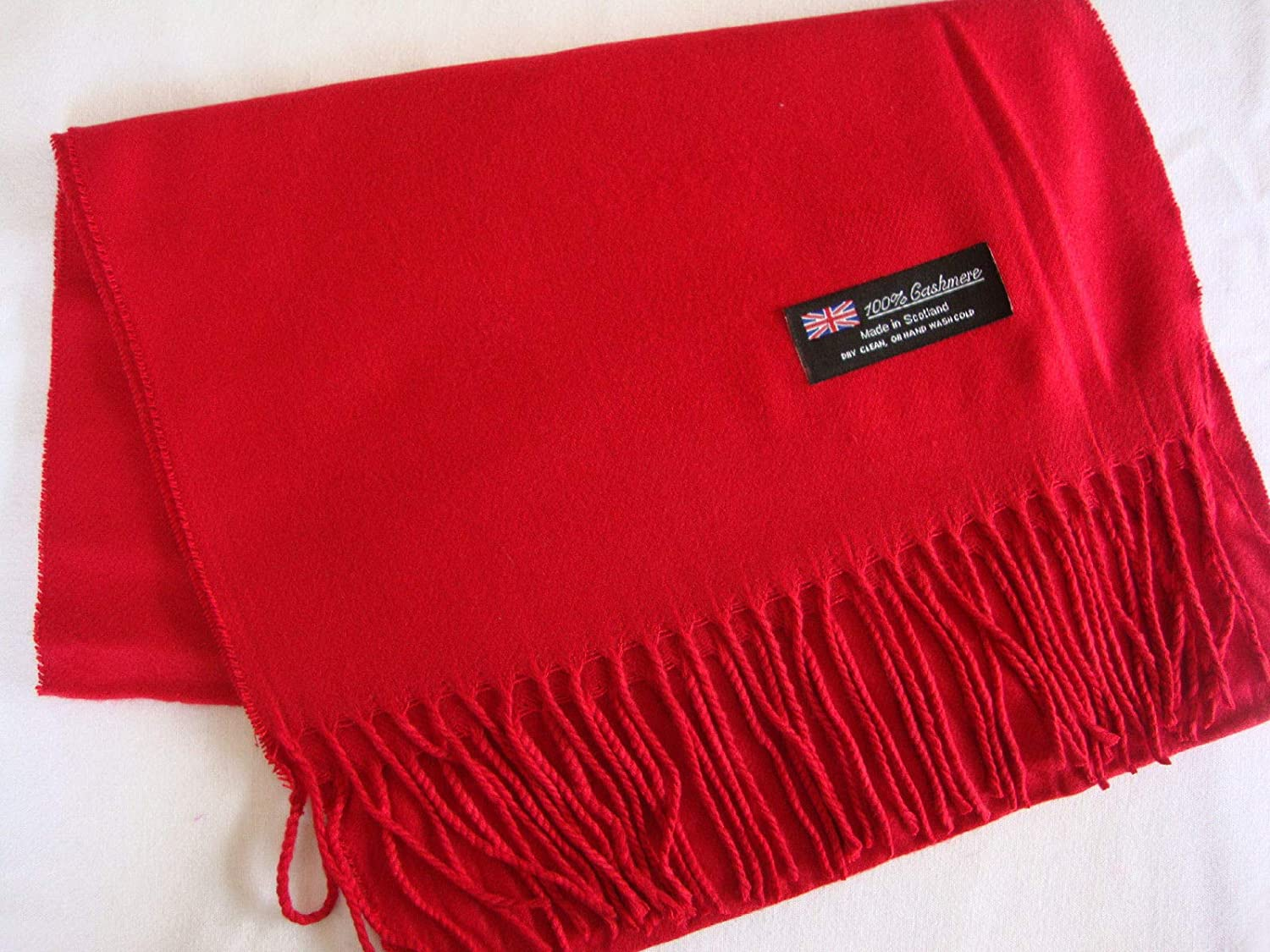 Red/_Unisex PLAIN Scarf pure solid colored Soft Men Women