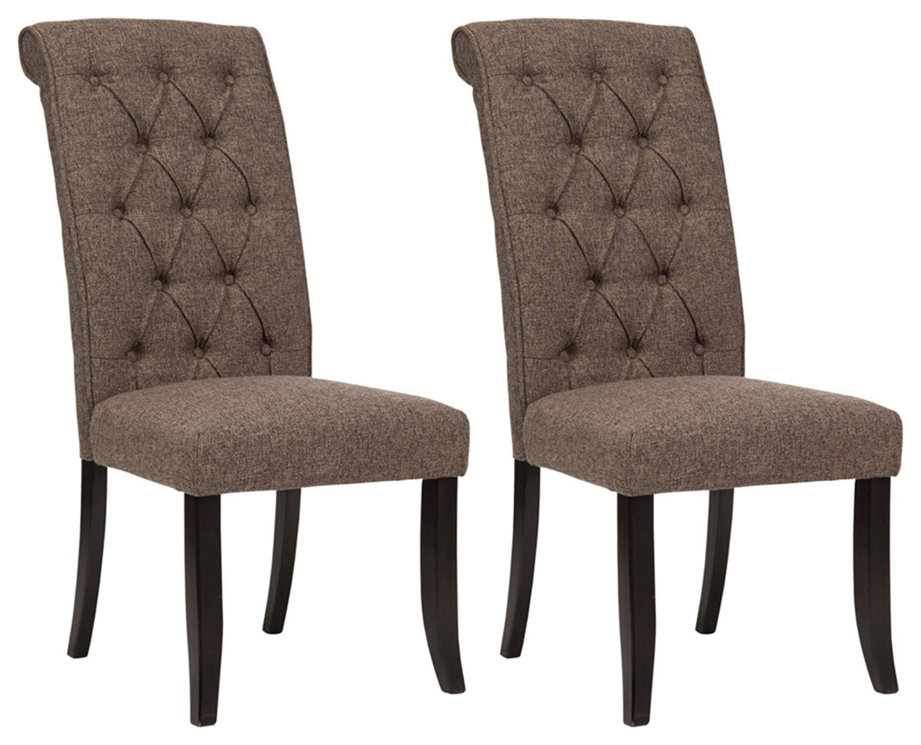 Ashley Furniture Signature Design - Tripton Dining Room Side Chair Set - Upholstered - Vintage Casual - Set of 2 - Graphite