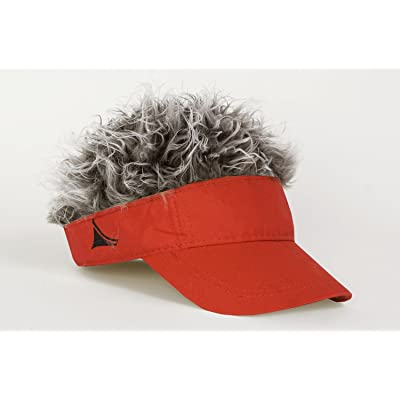 FlairHair Red Visor with Gray Hair