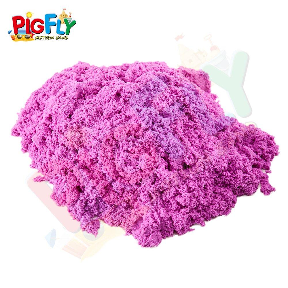 Pigflytech Sand Kinetic Like Moon Player Sand Art Kit-Purple