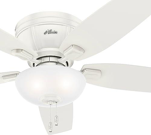 Hunter Fan 52 inch Low Profile Fresh White Ceiling Fan