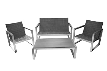 Awesome Lounge Set Sitzgruppe Poly Rattan U Alu Anthrazit Garten With  Rattan Lounge Anthrazit