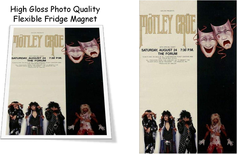 "Motley Crue 1985 Concert Poster 3""x4"" Flexible Fridge Magnet, High Gloss Photo Finish"
