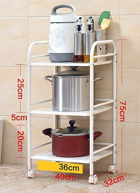 Estante de Cocina Microondas Estufa Suelo De Acero Inoxidable Utensilios de Cocina Almacenamiento Almacenamiento Estante Layer