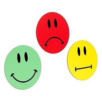 3 Bunte Sehr Große Smiley Magnete 1 Grüner Lachender Smiley 1