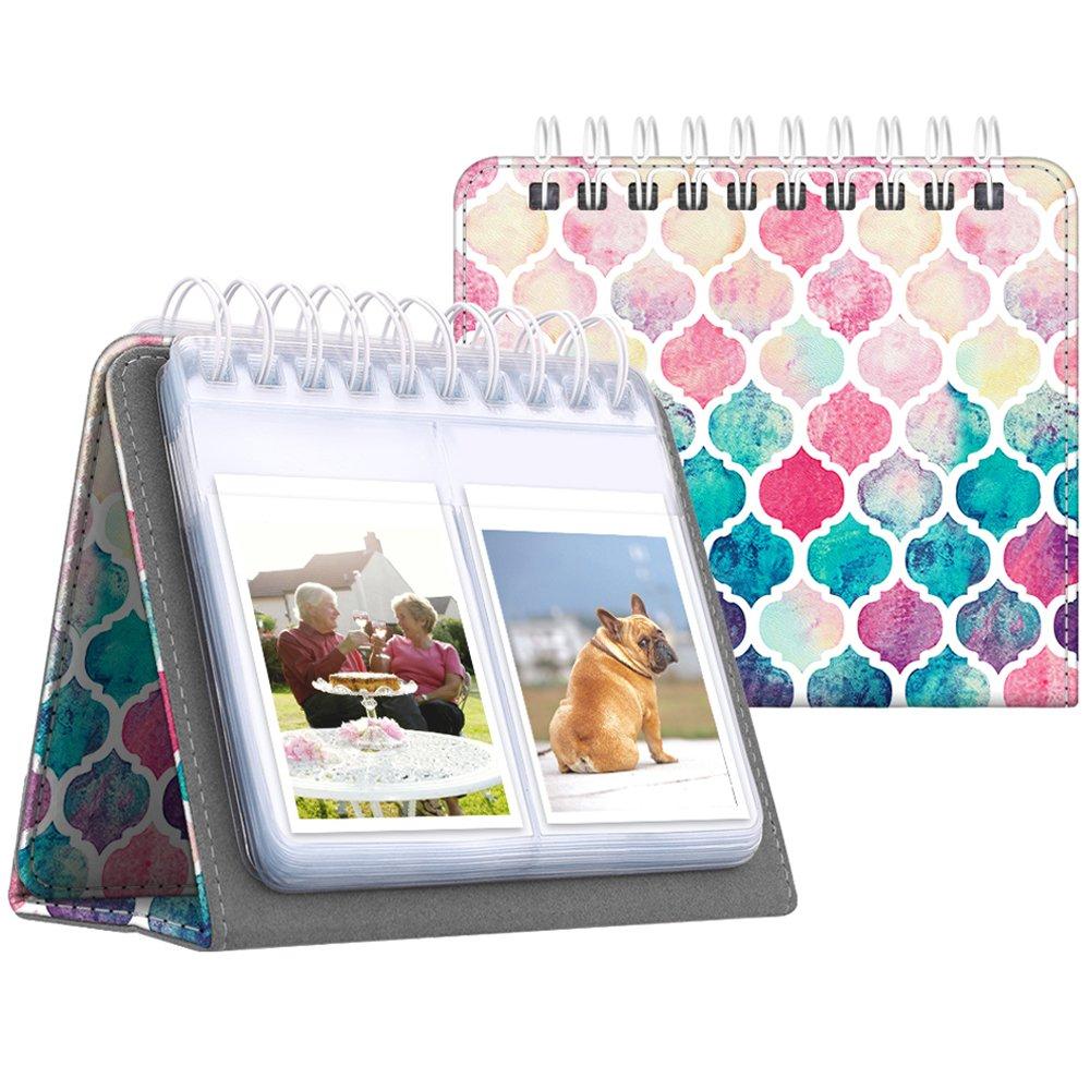 Fintie Calendar Photo Album for Fujifilm Instax - 64 Pockets Vegan Leather Photo Album for Fujifilm Mini 9 Mini 8+ Mini 90, HP Sprocket, Kodak Mini, Polaroid Camera 3-inch Film (Love Tree)