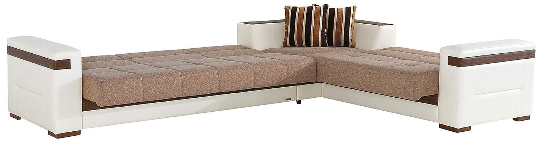 Amazon.com: Luna sofá seccional Juego de cama en platin ...