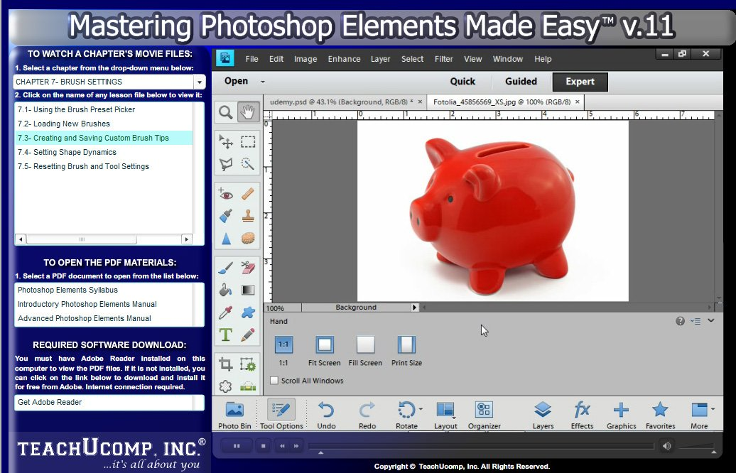 Mastering photoshop elements power suite training tutorial v. cs6 ps 10.0 pse brushes styles patterns