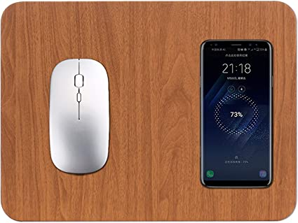 8 Plus X 11 Pro Max 11 Pro 8 XR Wireless Charger Smartpow Wireless Charging Mouse Pad 5W 2 in 1 Mat for iPhone 11 XS Galaxy S10 S9 S8,Note 10 Note 9 Note 8 and other Qi-Enabled devices Xs Max