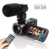 Videocamera Fotocamera, Eamplest Full HD 1080P 24MP IR Videocamera a raggi infrarossi di visione notturna con zoom digitale 16x, videocamera da 3 pollici da 270 pollici a schermo da tocco to (301)