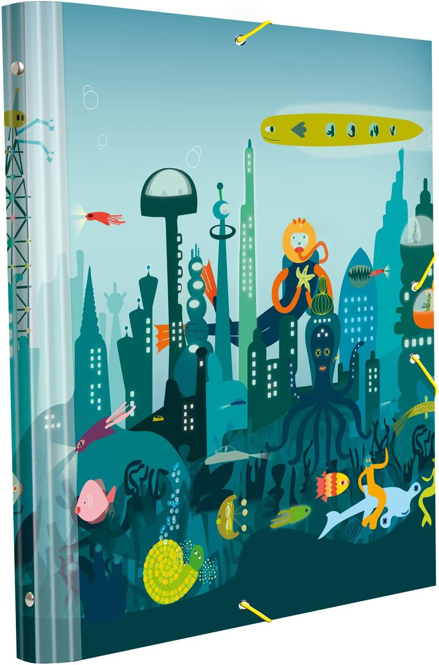Edima School Kits - Carpeta clasificadora, diseño Cuidad Submarina