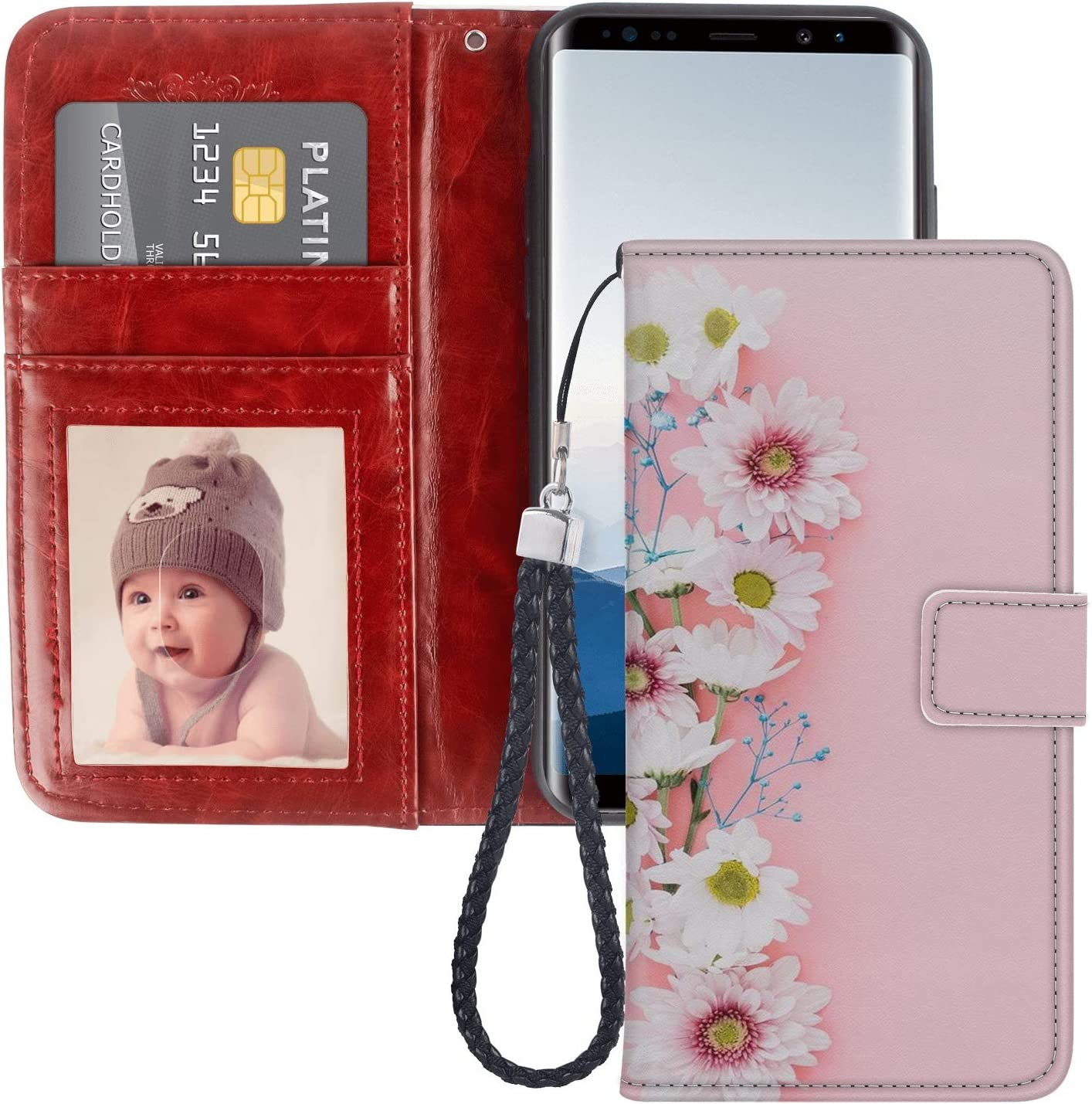 Amazon Com Samsung Galaxy Note 8 Wallet Case Cute Wallpapers For Iphone Pattern Design Protective Pu Leather Flip Cover With Credit Card Slots And Side Cash Pocket Magnetic Clasp Closure