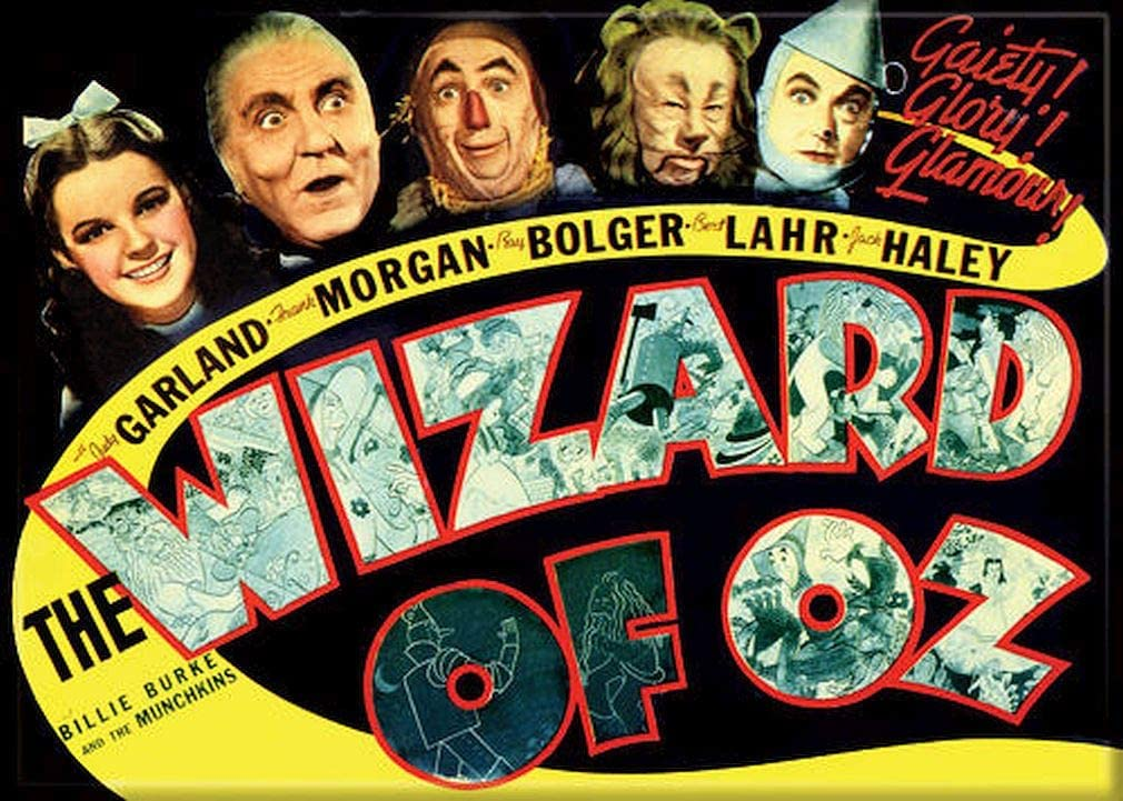 """Ata-Boy Wizard of Oz Movie Poster 2.5"""" x 3.5"""" Magnet for Refrigerators and Lockers"""