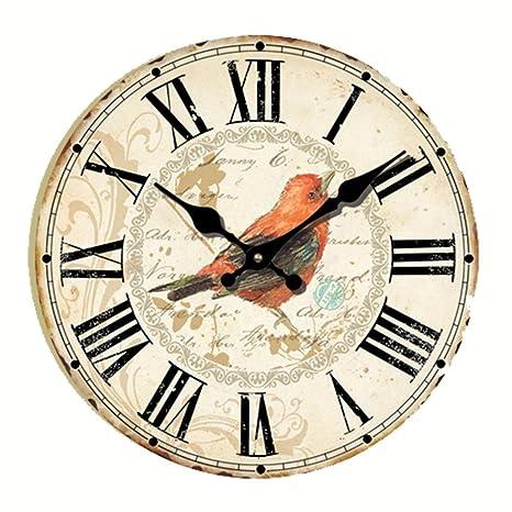 País estilo reloj de pared de madera (– [30,48 cm] Eruner