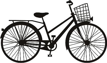 Cesta bicicleta clasica arte de pared adhesivos adhesivo pared 02 ...