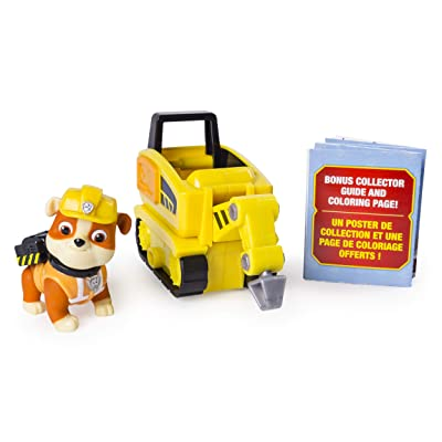 PAW Patrol Ultimate Rescue Rubble's Mini Jackhammer Cart with Collectible Figure, Ages 3 and Up: Toys & Games