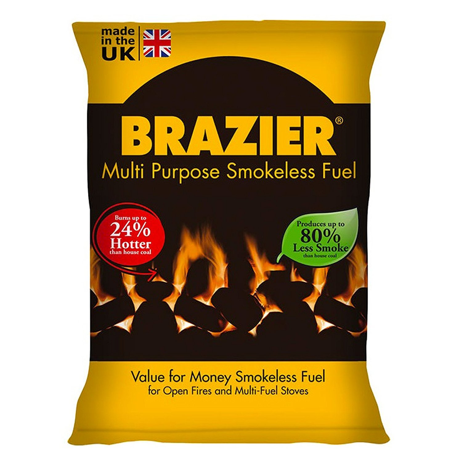 200kg Braziers Smokeless Coal Multi-Purpose Bags Free Delivery (200)