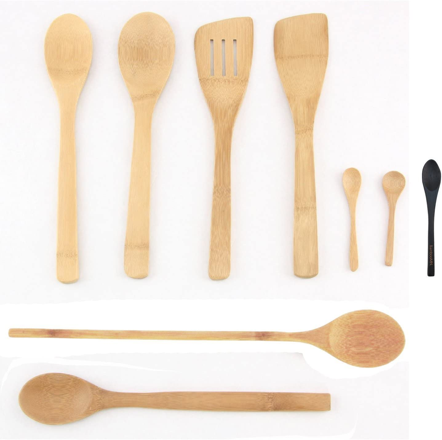 3x Wooden Spoon Set for Cooking