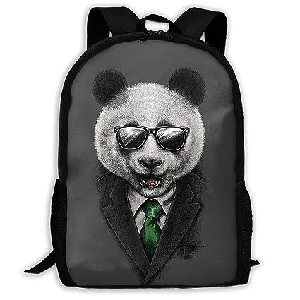 4d43f361a3dd Amazon.com: OGTIWGQG-URV Men Cool Gentleman Panda Backpack Bookbag ...