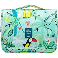YOZOOM Hanging Travel Toiletry Bag for Women with Flamingo Pattern 24cm 4.8L