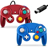 Gamecube Controller, Classic Wired Controller for Wii Nintendo Gamecube (Blue & Red-2Pack)