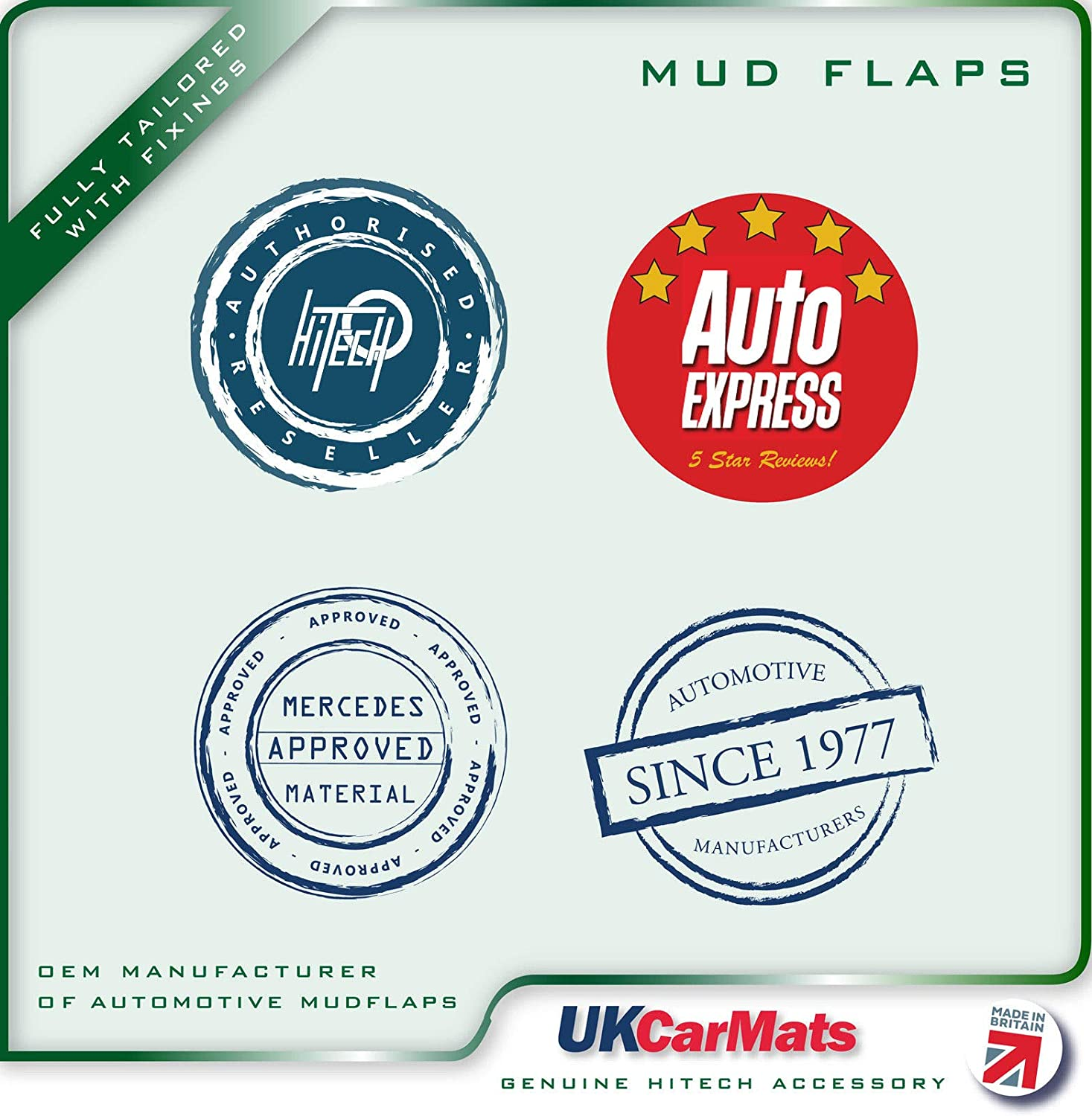 Hitech OEM AMF-00905//6 Fully Tailored Mudflaps