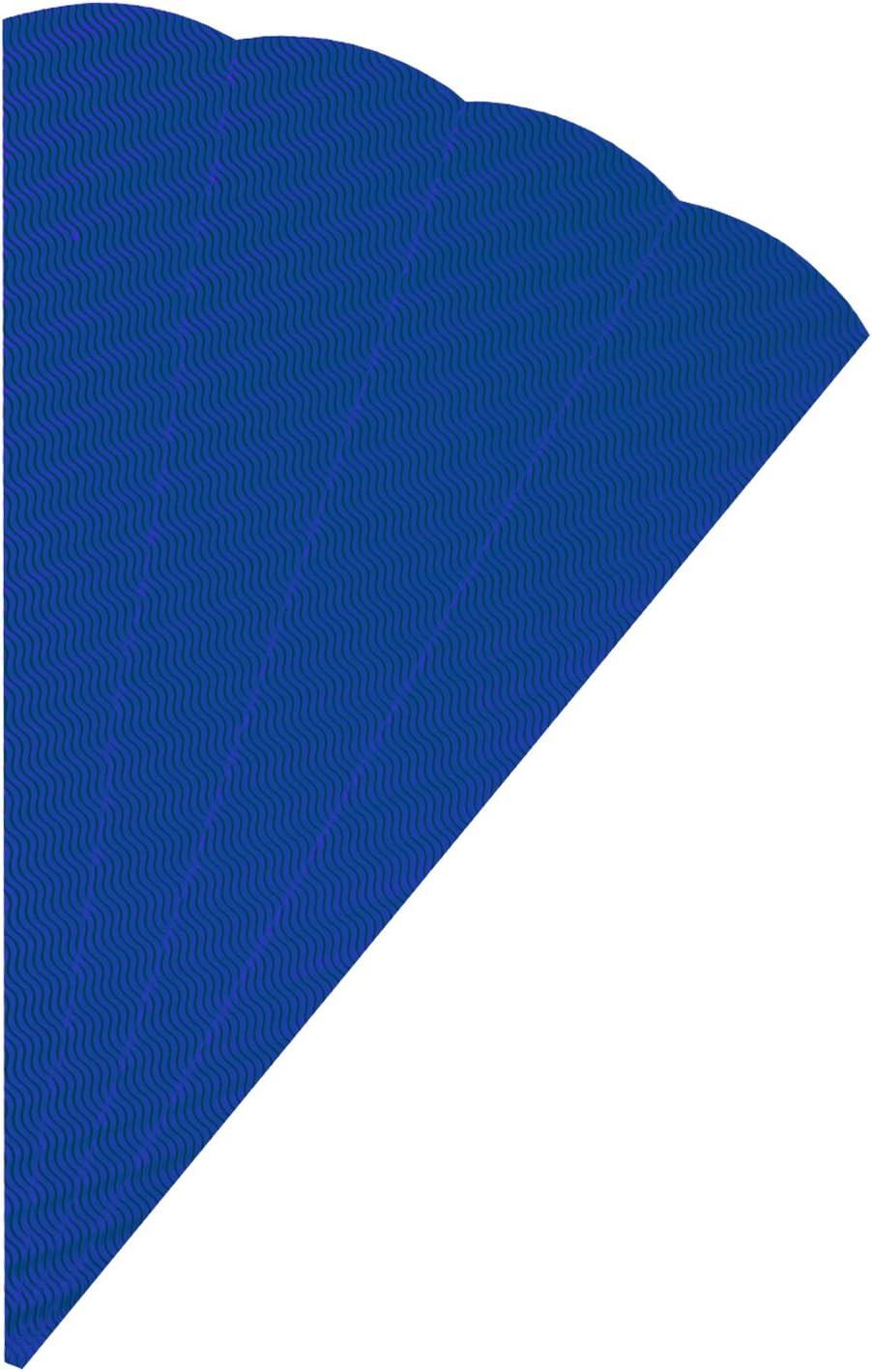 H/öhe 68 cm Schult/üten Rohlinge Durchmesser 20 cm zur Erstellung einer individuellen selbst gebastelten Zuckert/üte 5 T/üten blau aus 3D Wellpappe folia 92034