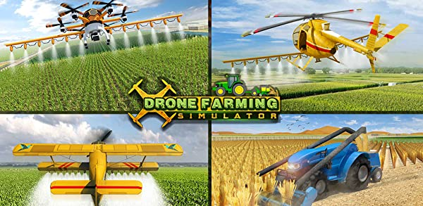 Futuristic Farming Simulator 2019 | Flying Drone Airplane