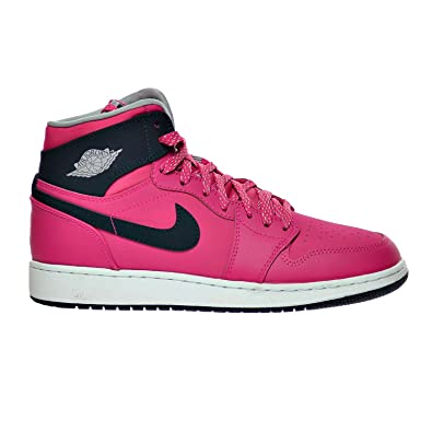 0bbd8898377e49 Jordan Air 1 Retro High GG Big Kid s Shoes Vivid Pink Dark Obsidian Wolf