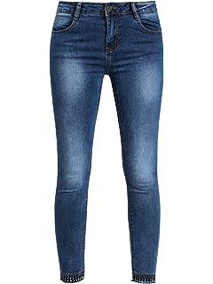 buy popular d9c95 74eec FARFALLINA Jeans Elasticizzati con Strass - Vita Bassa Donna ...