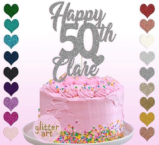 Decoración para tarta de 50 cumpleaños personalizable con ...