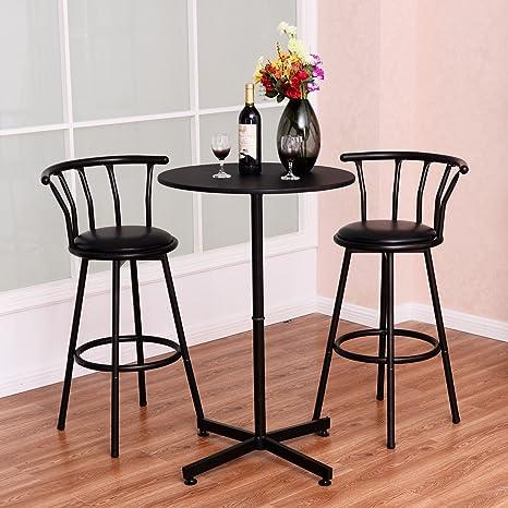MD grupo Bar mesa de resistente Durable tablero DM y acero modernos y tradicional Diseño patio