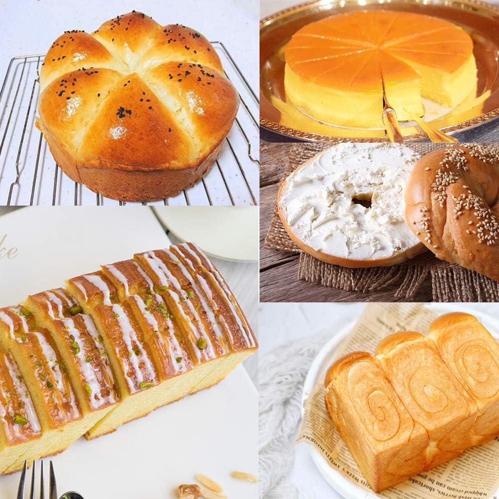 2 moldes de silicona antiadherentes PUDSIRN Juego de 6 moldes de silicona para pan grandes 2 moldes de silicona para hornear y 2 cepillos de aceite para tartas caseras,pan de carne,pastel