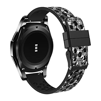 Compatible Samsung Gear S3 Frontier Bands/S3 Classic Band/Galaxy Watch 46mm Band 22mm Watch Band Silicone Material Samsung Gear S3 Smartwatch Women ...